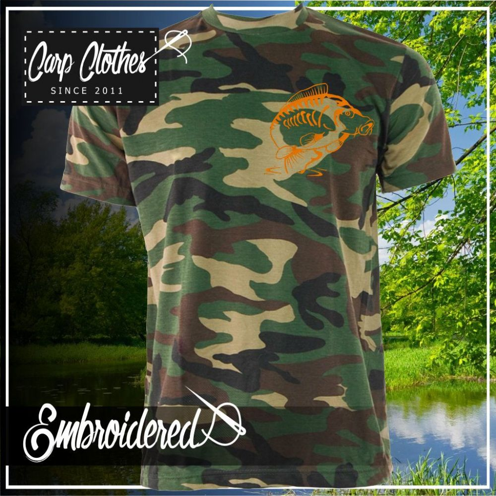 014 EMBROIDERED CAMO T SHIRT